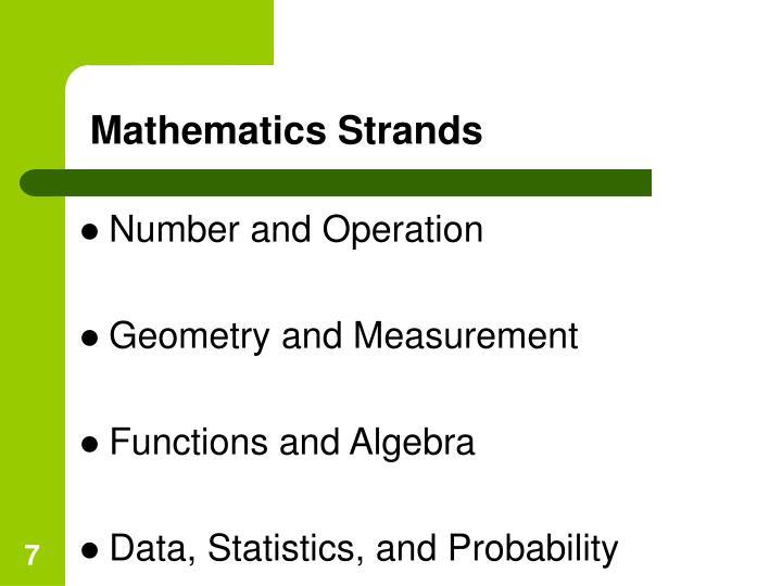 Mathematics Strands