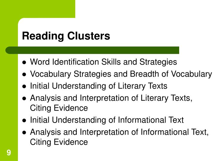 Reading Clusters