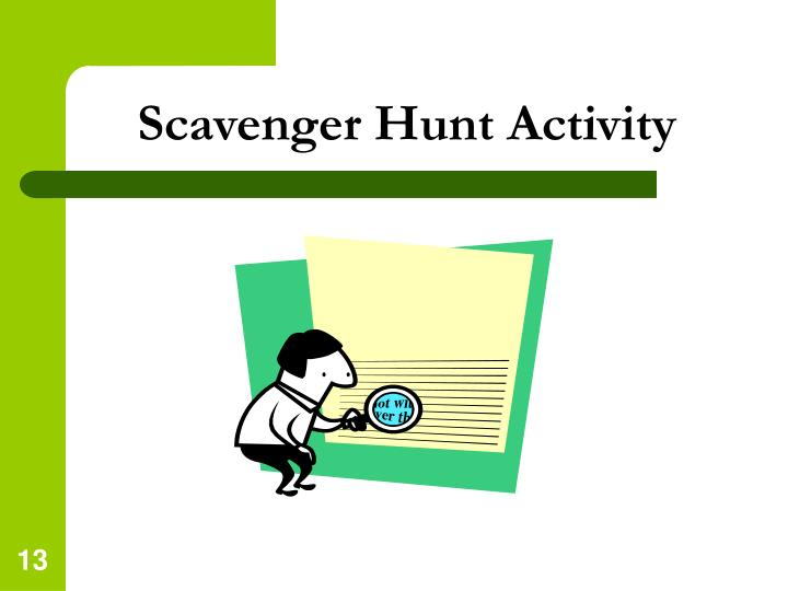 Scavenger Hunt Activity