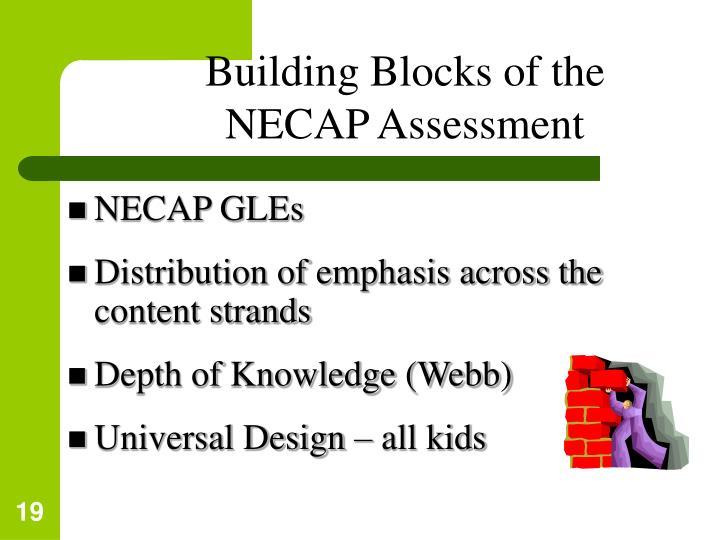 Building Blocks of the NECAP Assessment