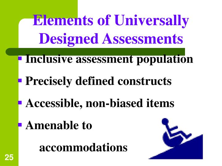 Elements of Universally Designed Assessments