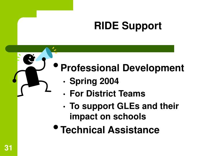 RIDE Support