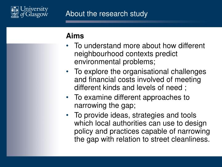 About the research study