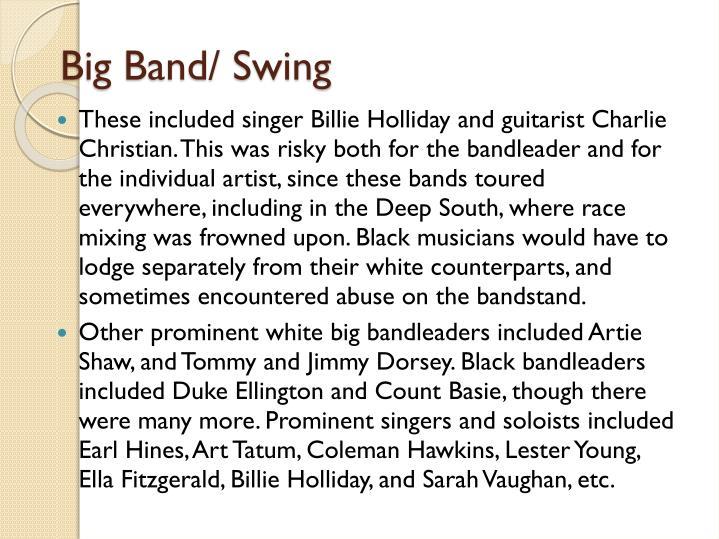 Big Band/ Swing