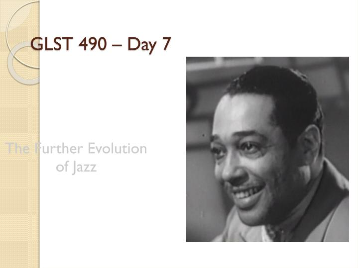 The further evolution of jazz