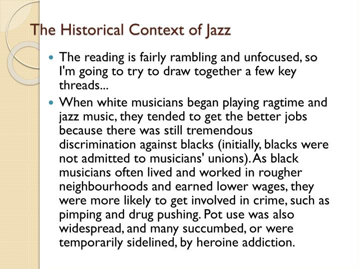 The Historical Context of Jazz