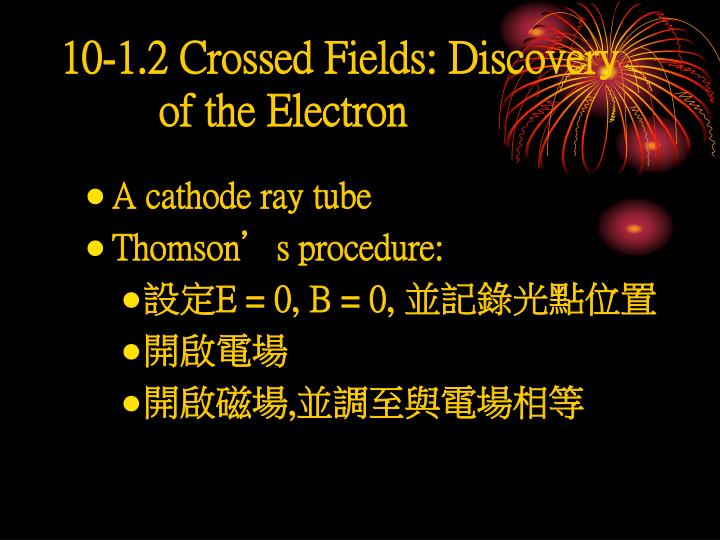 10-1.2 Crossed Fields: Discovery of the Electron