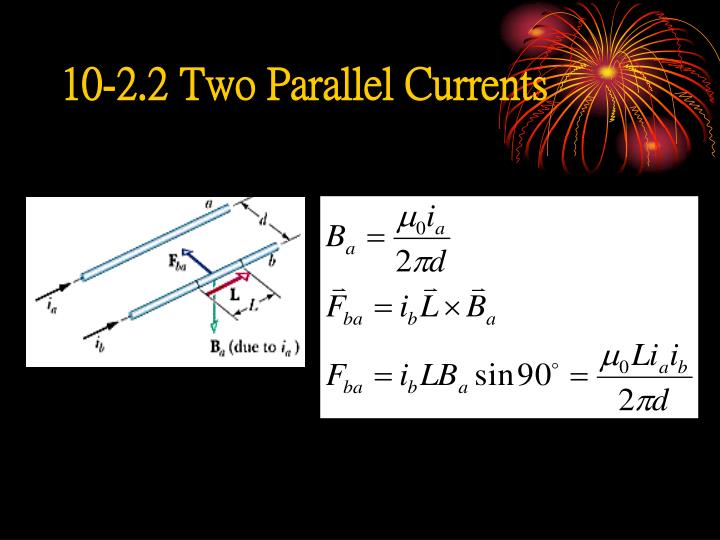 10-2.2 Two Parallel Currents