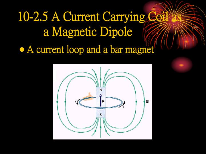10-2.5 A Current Carrying Coil as a Magnetic Dipole