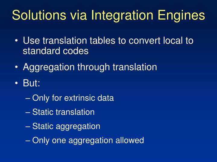 Solutions via Integration Engines