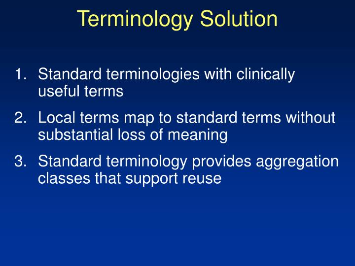 Terminology Solution