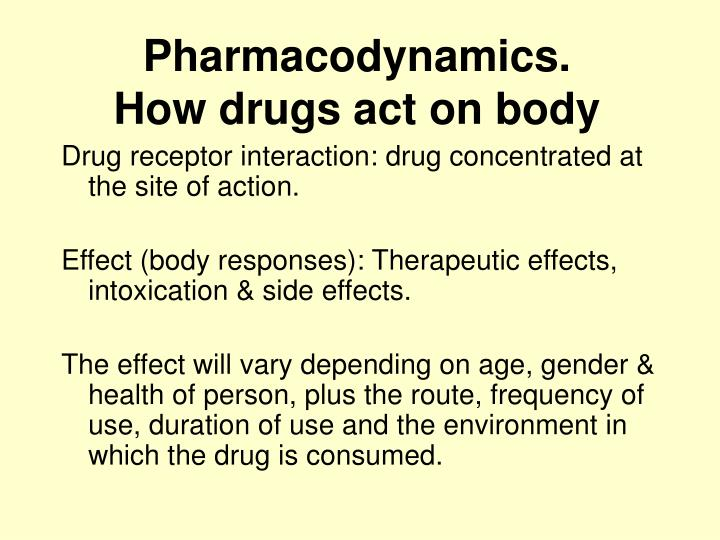 Pharmacodynamics.
