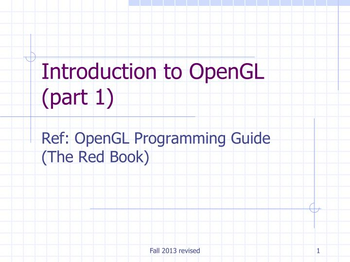 introduction to opengl part 1 n.