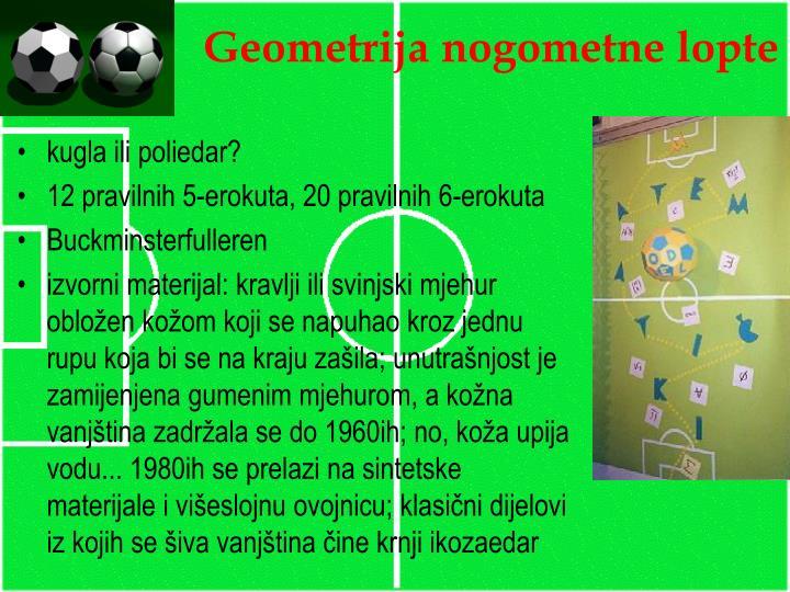 Geometrija nogometne lopte