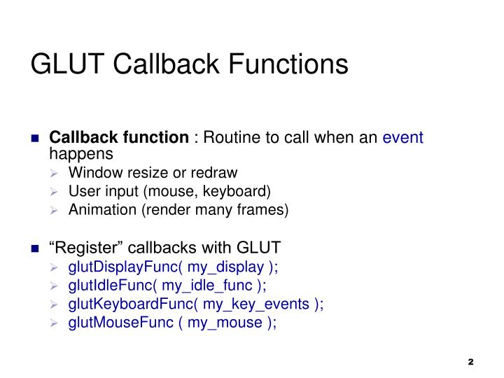 Glut callback functions1