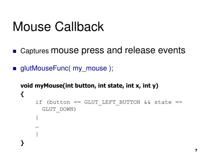 Mouse Callback