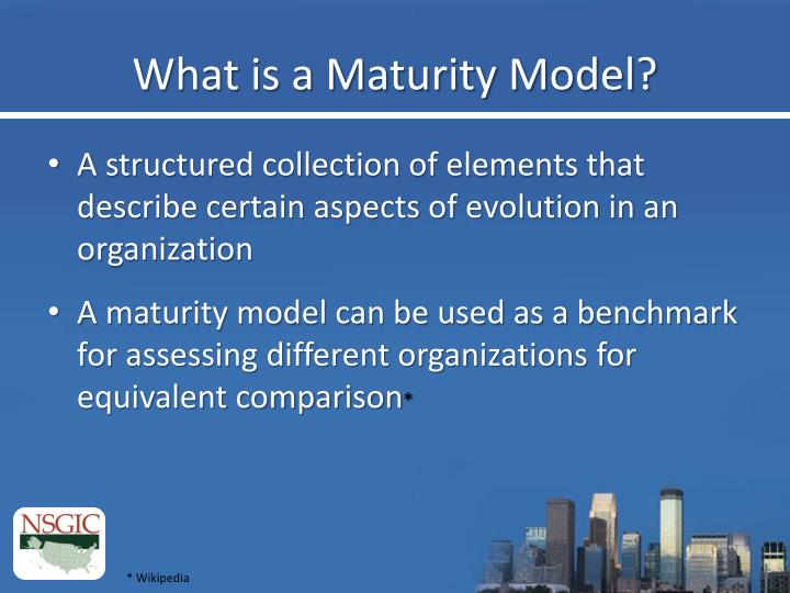 What is a Maturity Model?