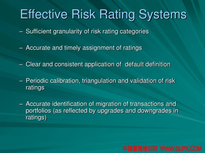 Effective Risk Rating Systems