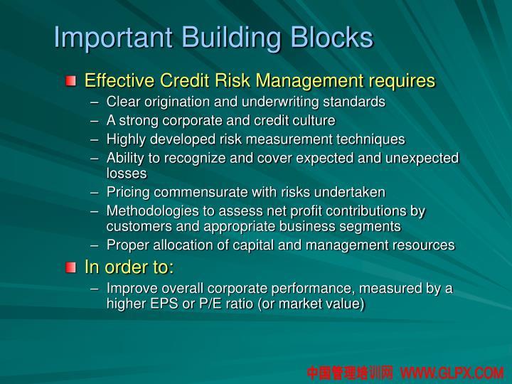 Important Building Blocks