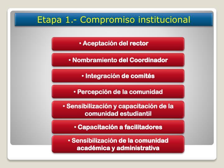 Etapa 1.- Compromiso institucional