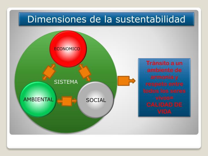 Dimensiones de la sustentabilidad