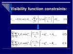 visibility function constraints