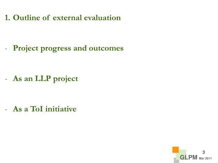 Outline of external evaluation