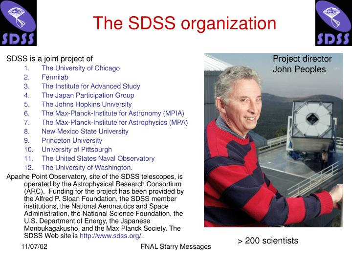 The sdss organization