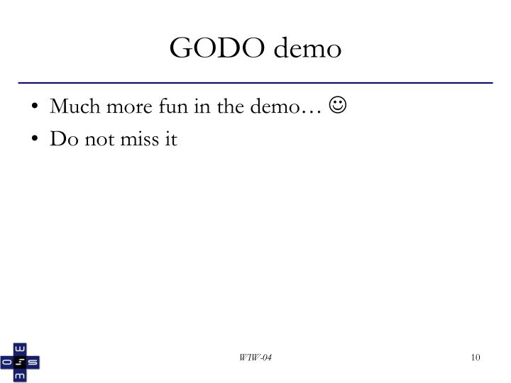 GODO demo