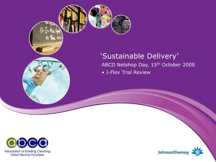 sustainable delivery n.