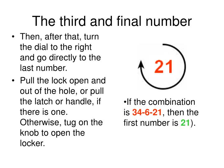The third and final number