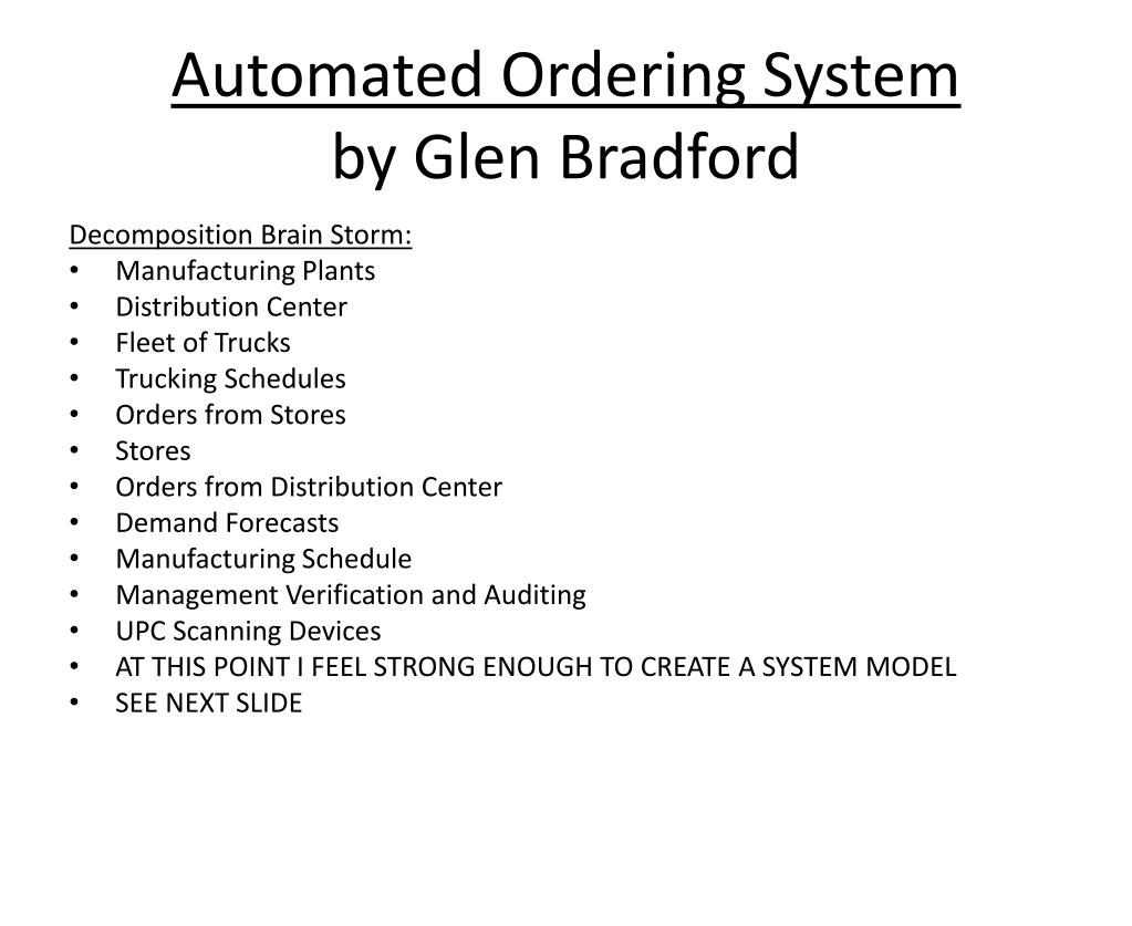 automated ordering system