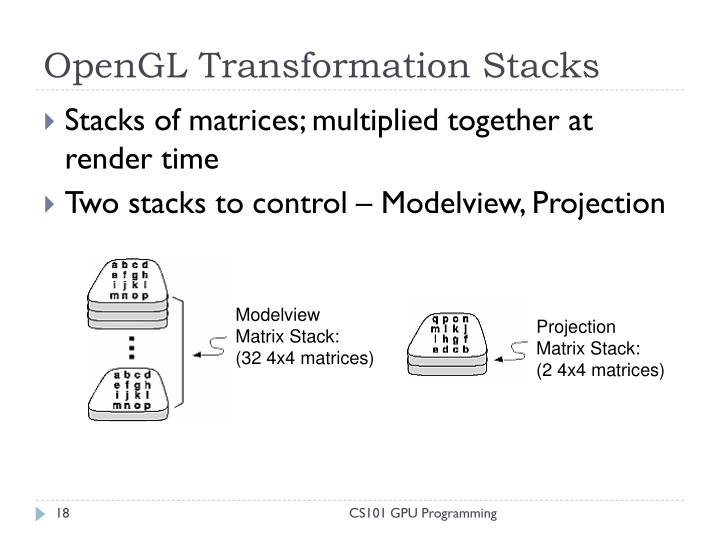 OpenGL Transformation Stacks