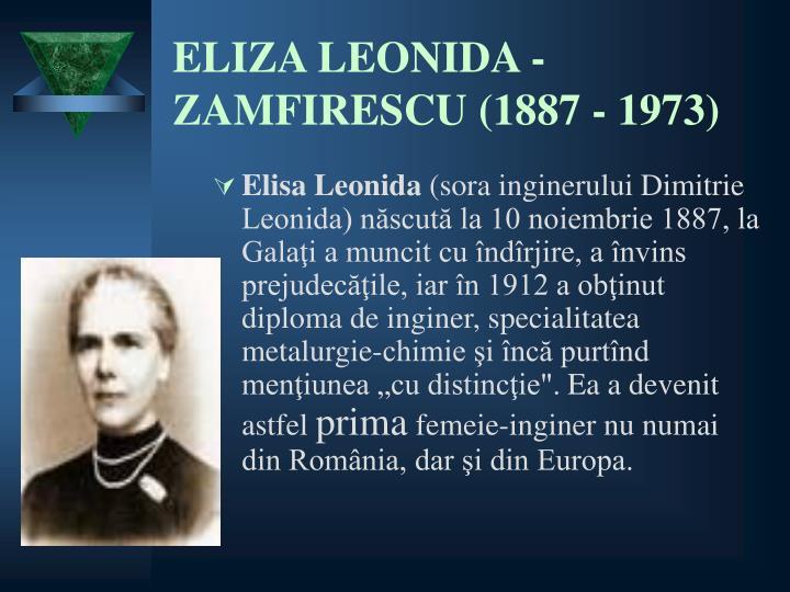ELIZA LEONIDA -       ZAMFIRESCU(1887 - 1973)