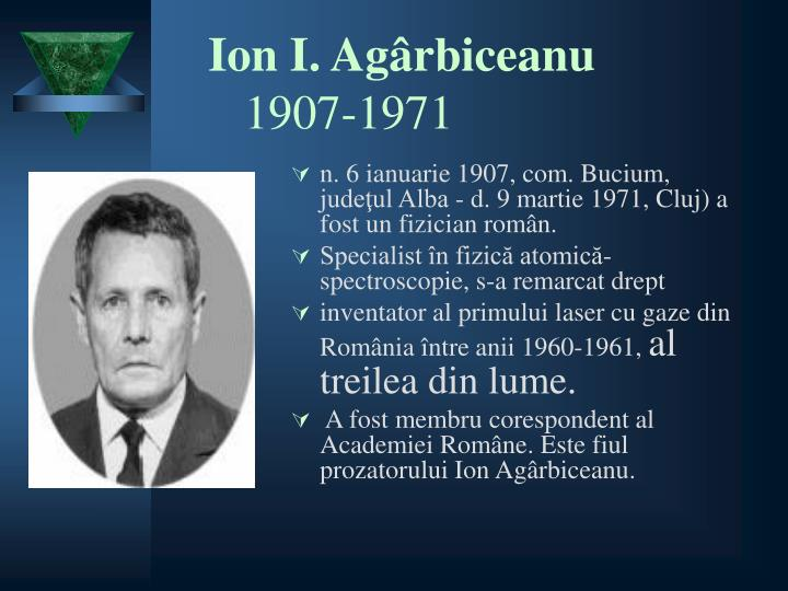Ion i ag rbiceanu 1907 1971