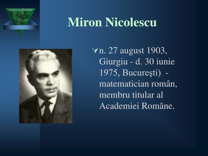 Miron Nicolescu