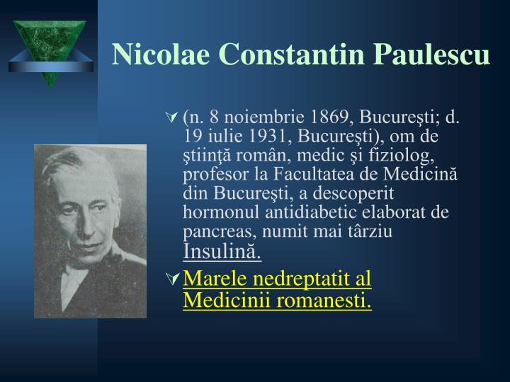 Nicolae Constantin Paulescu