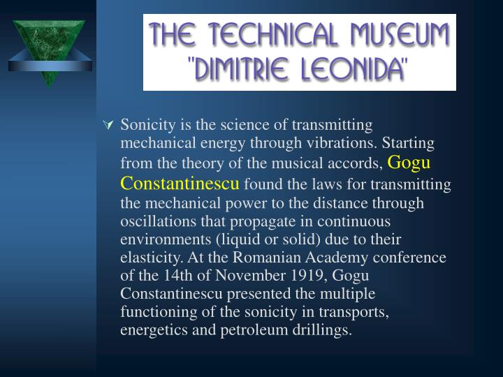 Sonicity is the science of transmitting mechanical energy through vibrations. Starting from the theory of the musical accords,