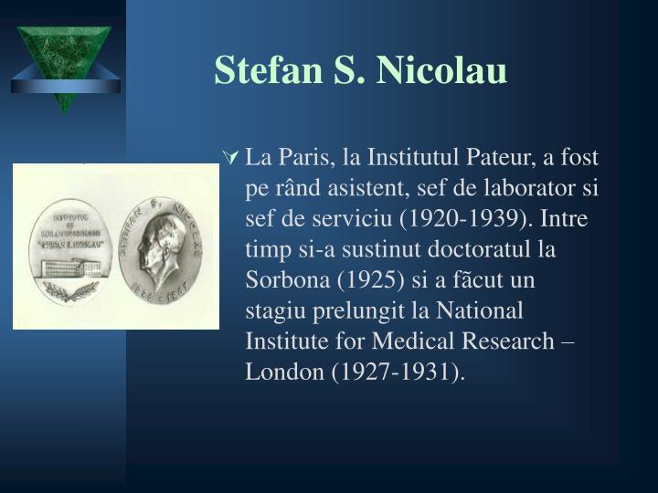 Stefan S. Nicolau