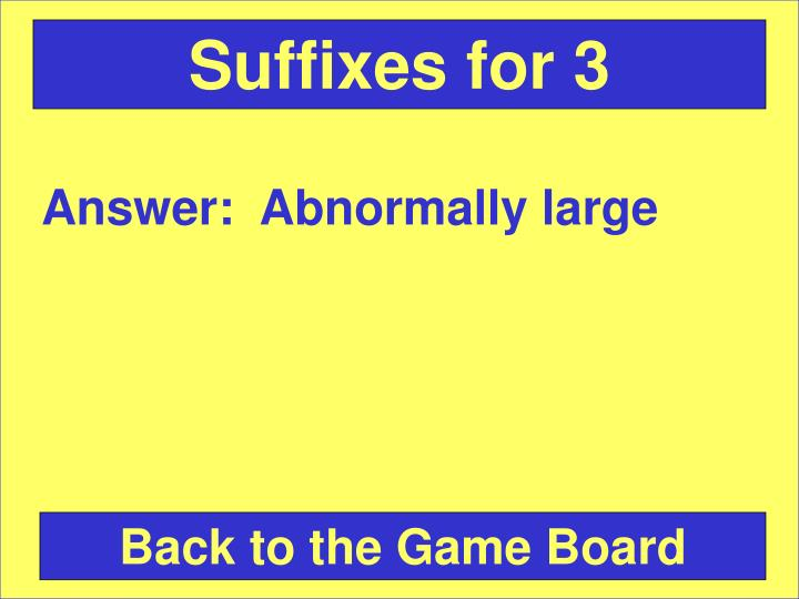 Suffixes for 3