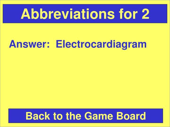 Abbreviations for 2