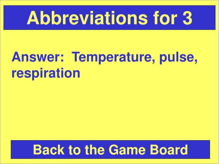 Abbreviations for 3