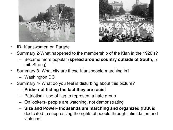 ID- Klanswomen on Parade
