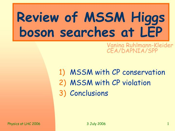 Review of mssm higgs boson searches at lep