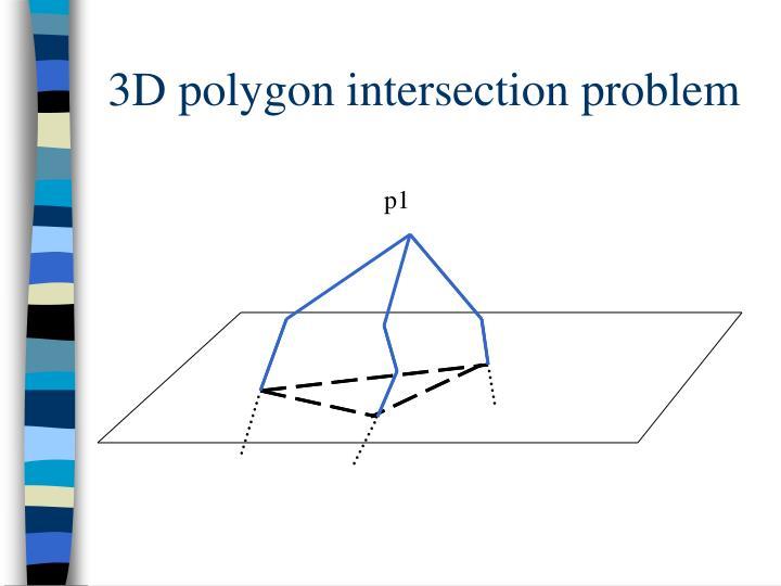 3D polygon intersection problem