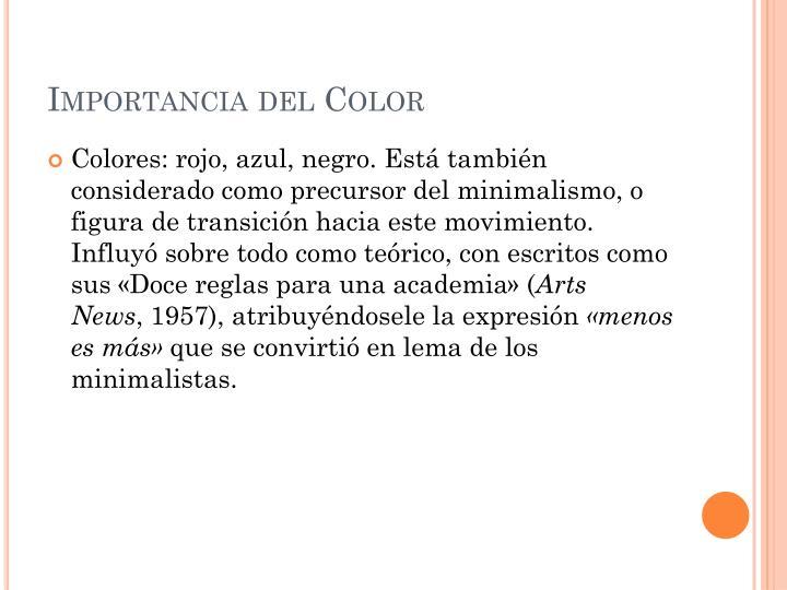 Importancia del Color