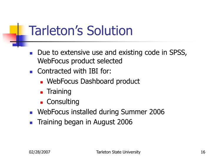 Tarleton's Solution
