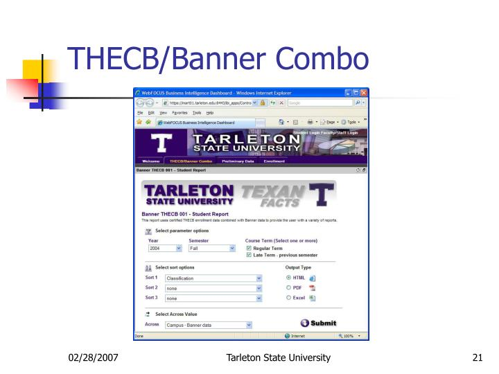 THECB/Banner Combo