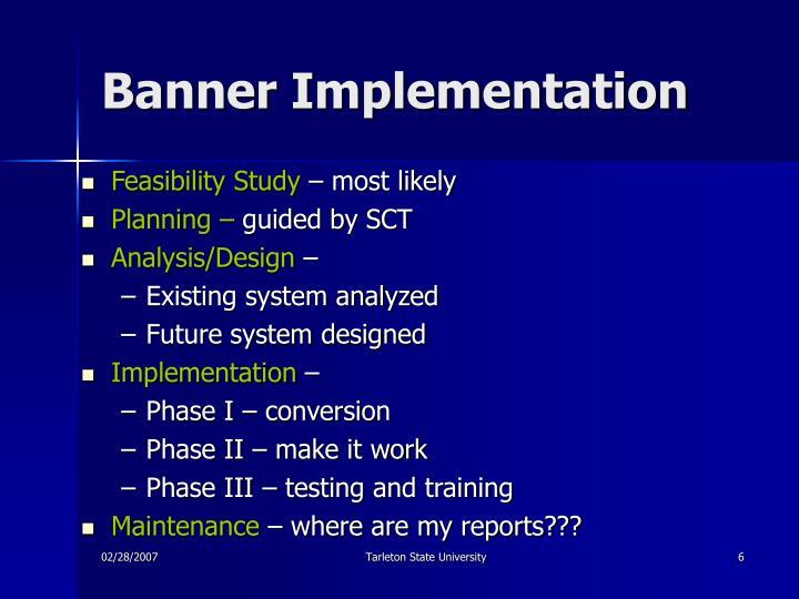 Banner Implementation