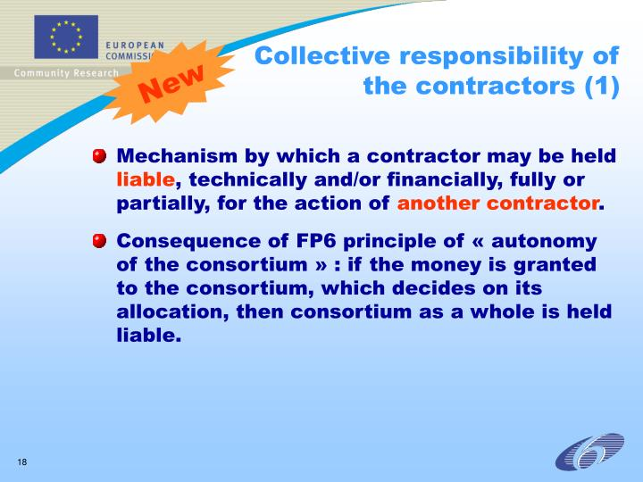 Collective responsibility of the contractors (1)